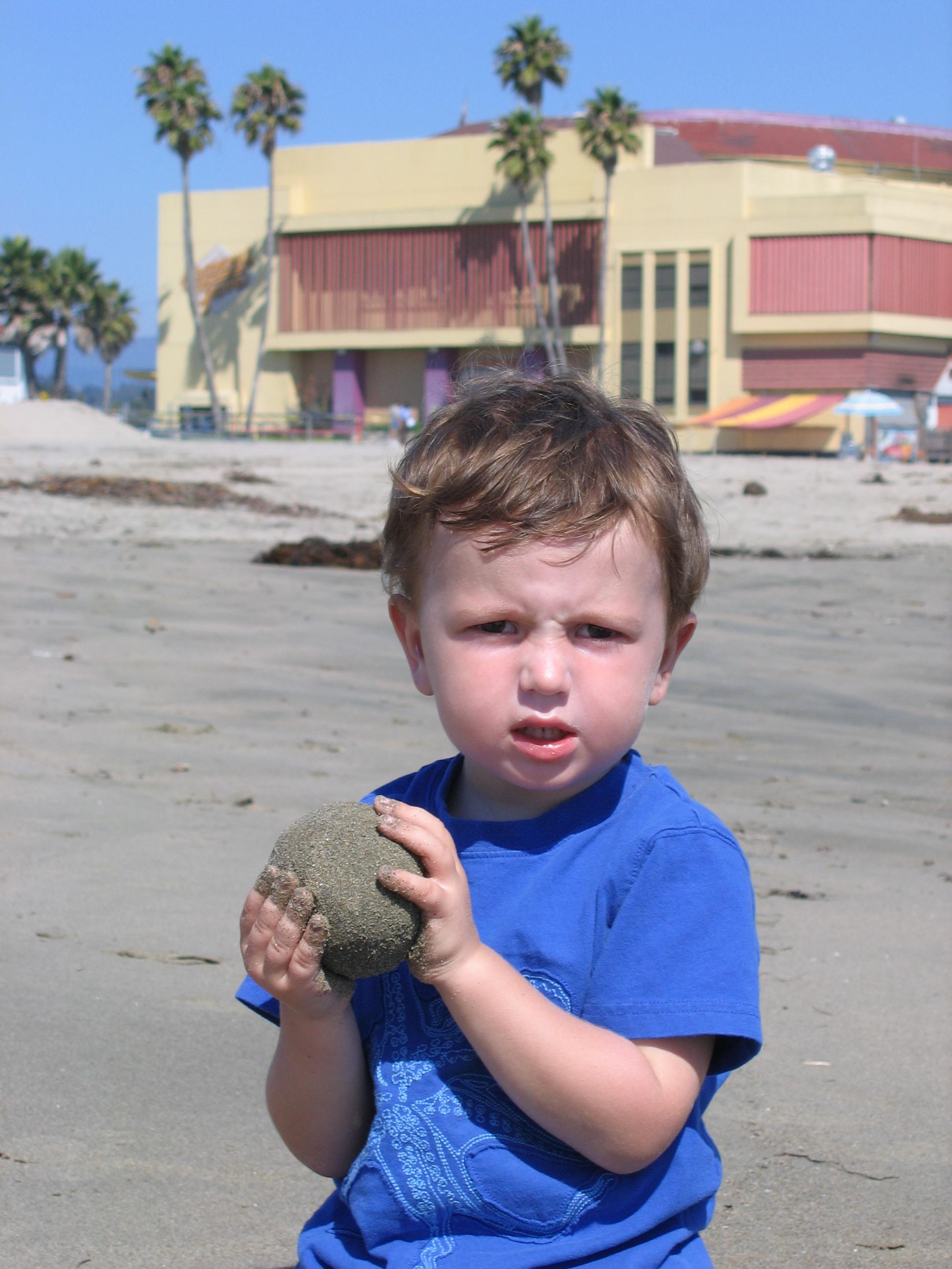 Ezra with Sand Ball