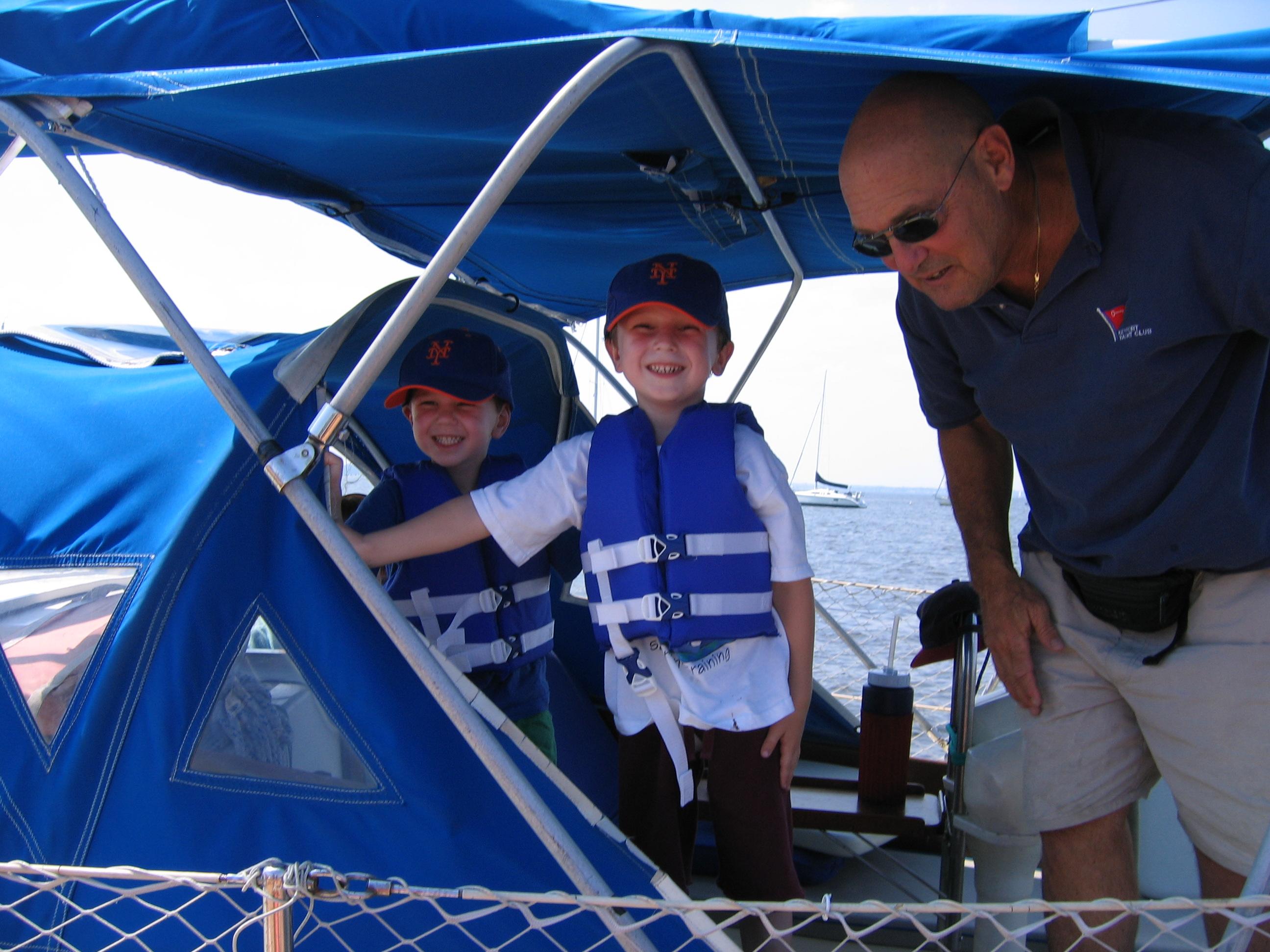 Charlie Ezra and Zeke on Windbairn